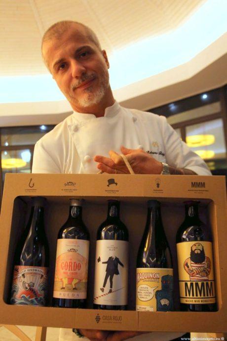 Chef Roberto Balgisi vini Casa Rojo