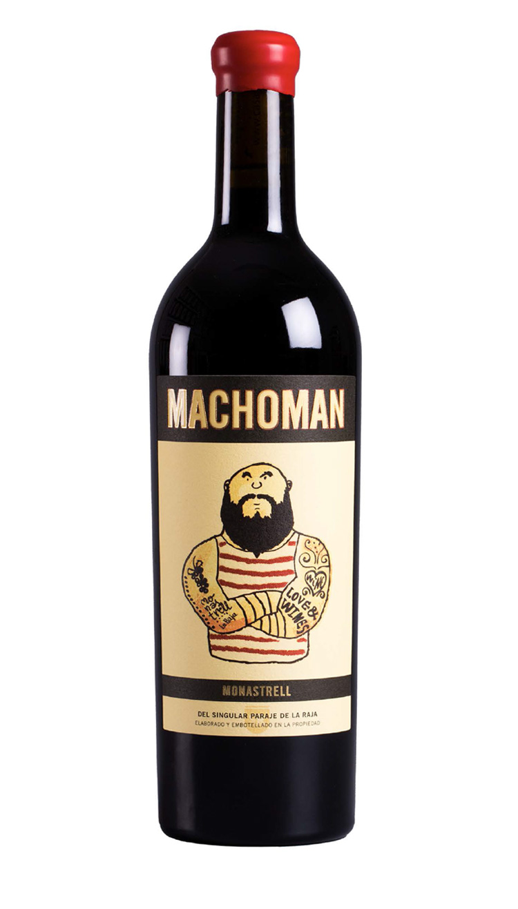 macho man monastrell 2016 casa rojo vino rosso spagnolo